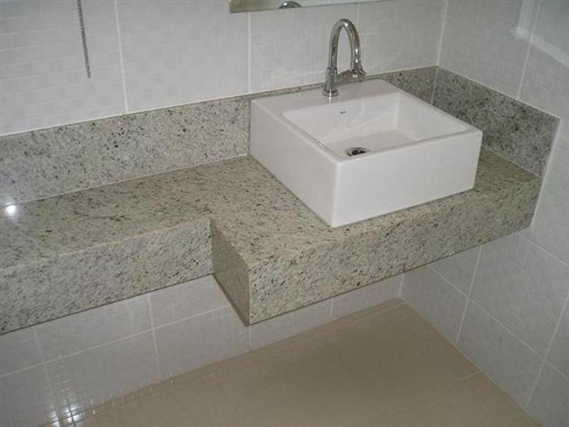 Bancada de Mármore para Banheiros Pequenos Pirituba - Bancada de Mármore Banheiro