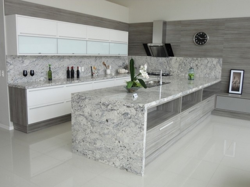 Empresa de Bancada de Mármore Branco Cozinha Campo Grande - Bancada de Mármore para Cozinha