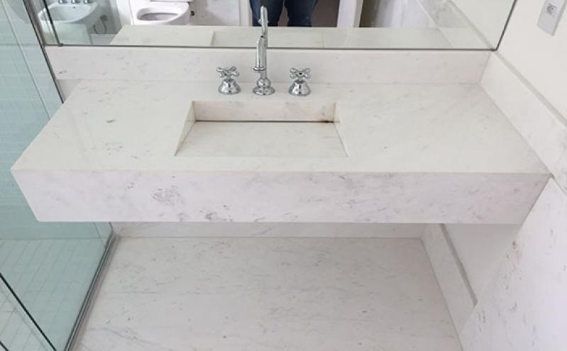 Empresa de Bancada de Mármore para Banheiros Pequenos Vila Dila - Bancada de Mármore Cozinha