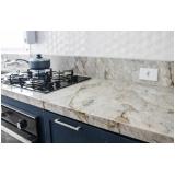 bancada de mármore branco cozinha VILA VELIMA