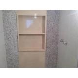 nicho de banheiro com prateleira Parque Residencial da Lapa