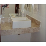 pia de marmore banheiro pequeno Vila Clementina