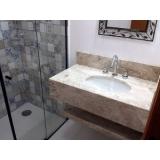 pia de mármore banheiro valor Parque do Chaves