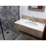 pia de mármore banheiro valor Santa Cecília