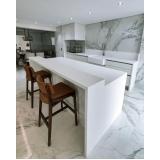 pia cozinha quartzo branco