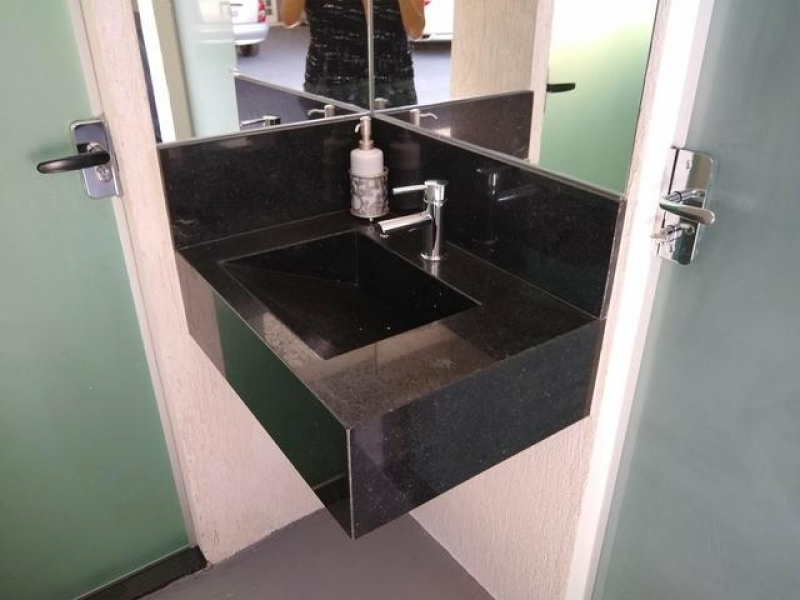 Valor de Lavatório de Mármore para Banheiro Pequeno Vila Dila - Lavatório em Mármore Sintético